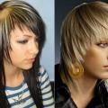 Красиві рвані стрижки на середні волосся: фото варіантів
