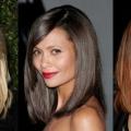 Подовжене каре на довге волосся: фото з чубчиком і без чубчика